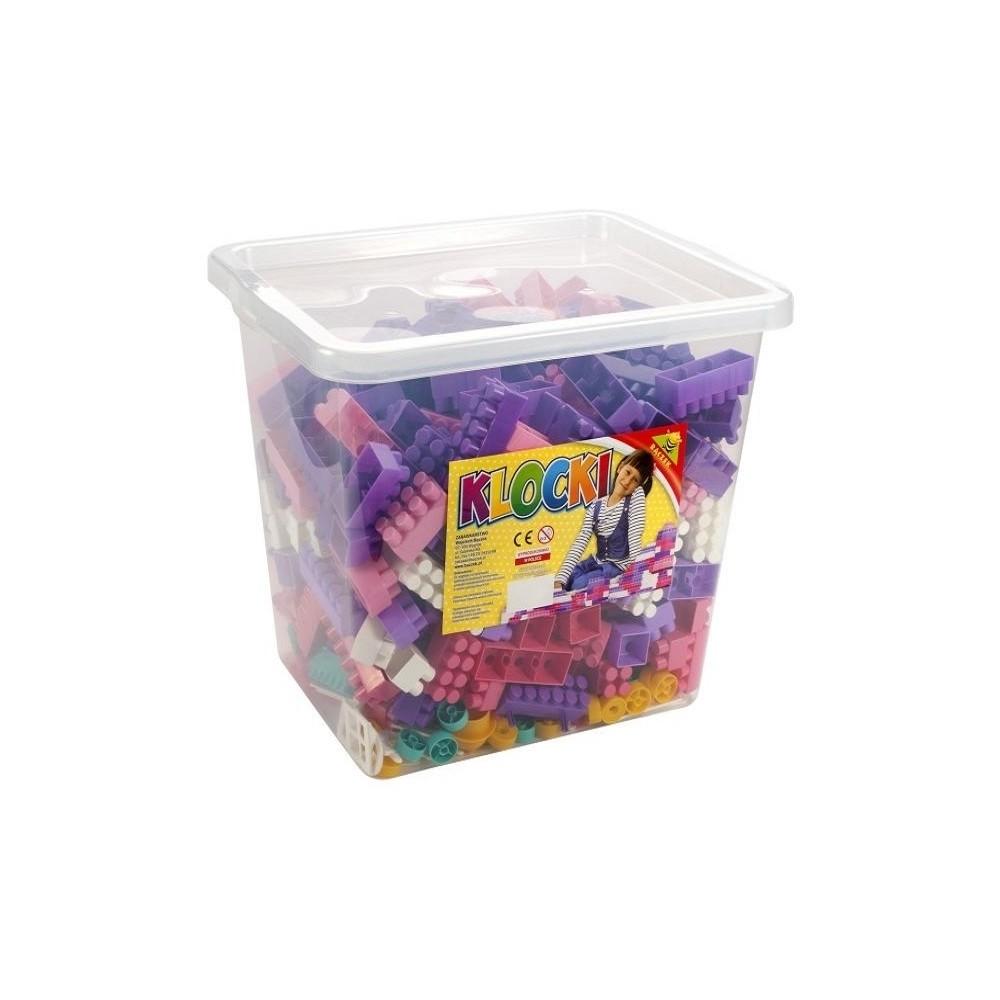 Cuburi constructii 500 piese/cutie, 28 mm, pentru fetite - Tupiko